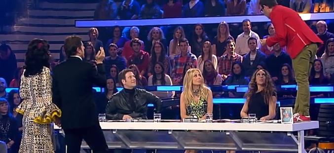 Captura de imagen de Àngel Llàcer regañando a Marta Sánchez en 'Tu cara me suena'