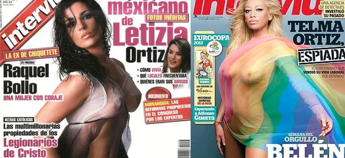 Raquel Bollo y  Belén Esteban fueron portadas de Interviú