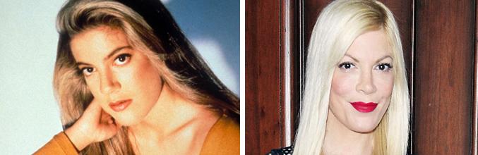Tori Spelling, antes y ahora
