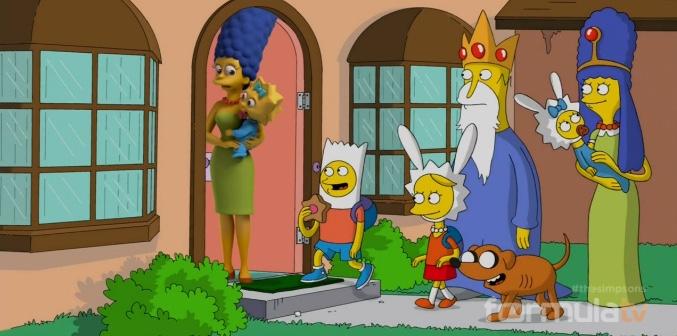 'Los Simpson' como en 'Hora de aventuras'
