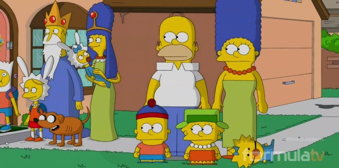 'Los Simpson' como 'South Park'