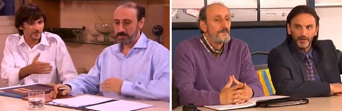 Emilio y Juan en 'Aquí no hay quien viva' y Enrique y Fermín en 'La que se avecina'