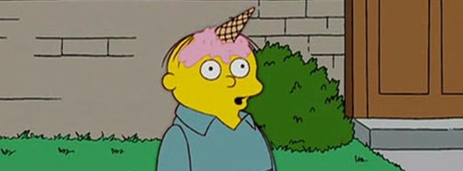 Ralph Wiggum imitando a un unicornio