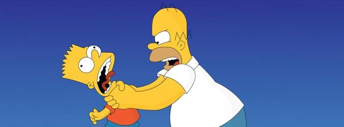 Homer ahogando a Bart