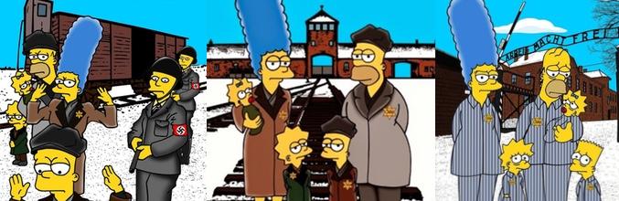 Tres de las ilustraciones de 'Los Simpson' de Palompo