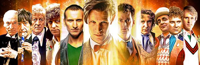 Imagen promocional del 50º aniversario de 'Doctor Who'
