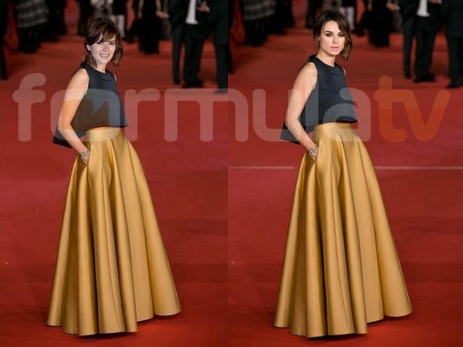 Anna Allen simula estar en los Oscar 2014 con una foto del Festival de Roma 2013