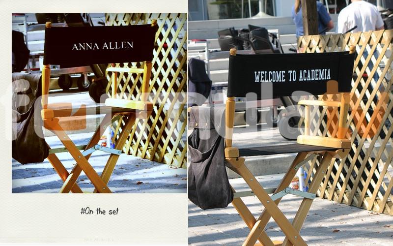 La silla de rodaje ficticia de Anna Allen