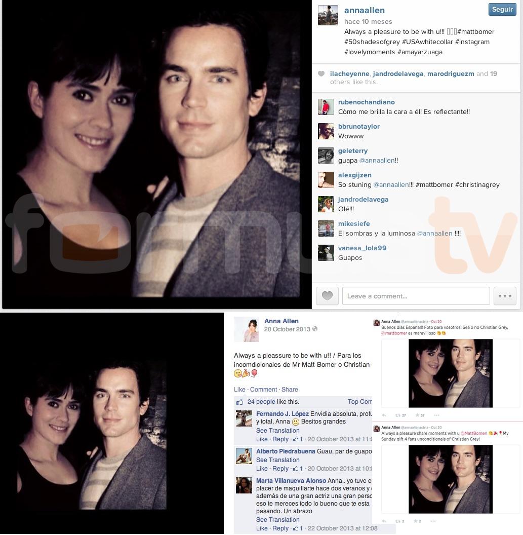 Anna Allen cuenta en Instagram su falso encuentro con Matt Bomer