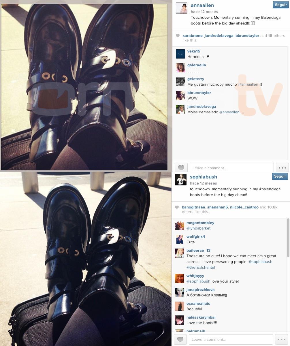 Anna Allen y las botas de Sophia Bush