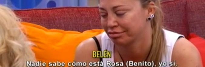Belén Esteban hablando de Rosa Benito