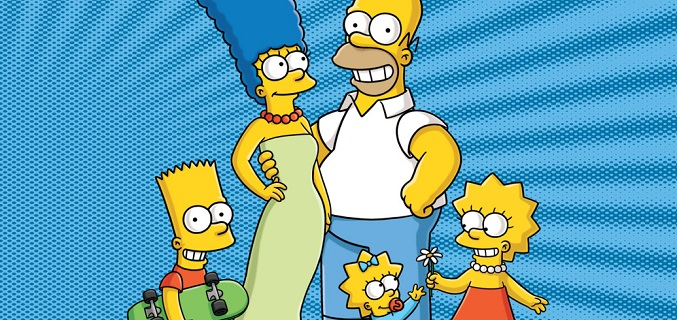 Homer, Marge, Bart, Lisa y Maggie forman la familia Simpson