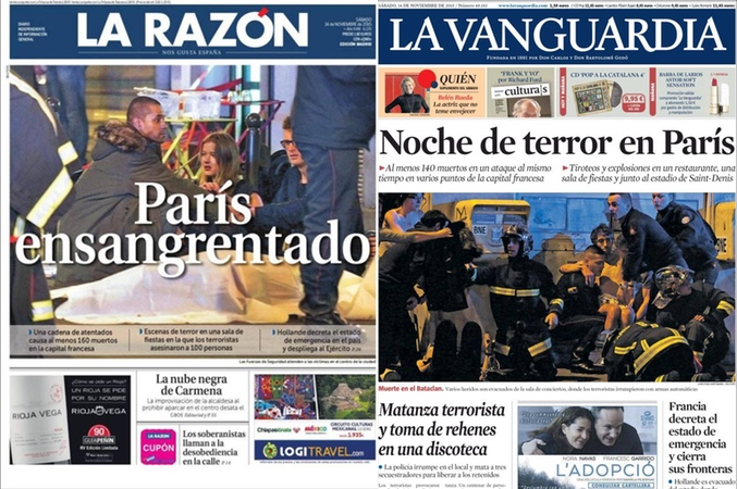 Las portadas de los peri dicos nacionales e for Ultimas noticias de espectaculos internacionales