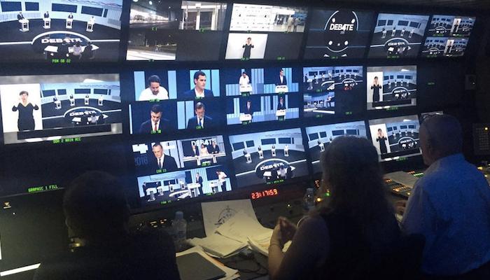 Sala De Debate Tv Futura ~ Sala de control del debate a cuatro organizado por la Academia de la