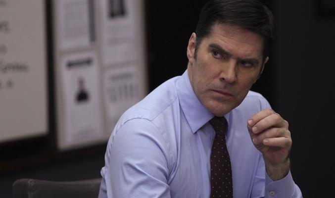 Thomas Gibson en el papel del Agente Hotchner
