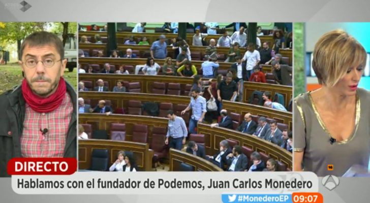 Juan carlos monedero se equivoca en 39 espejo p blico 39 y for Espejo publico diana quer