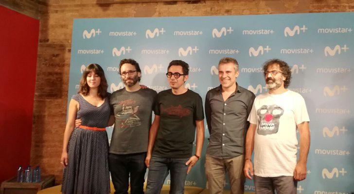Eva Ugarte, Carlos Theron, Berto Romero, Domingo Corral y Xen Subirats en la