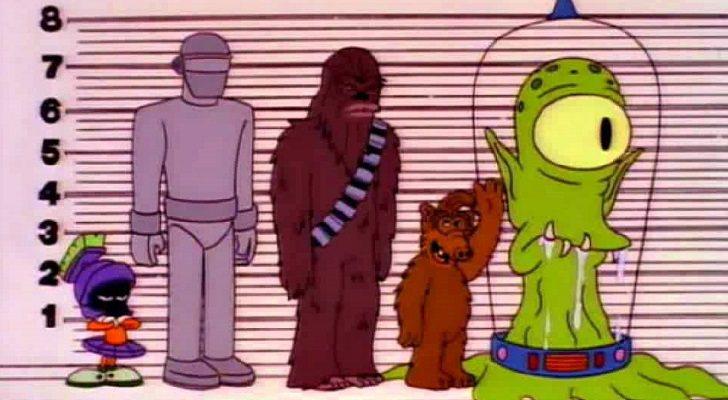 Alf en 'Los Simpson' junto a otros extraterrestres