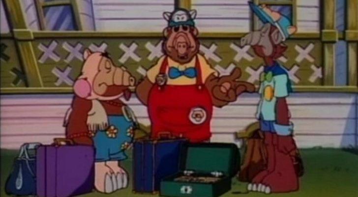 Alf en su versión animada en 'Los cuentos de Alf'