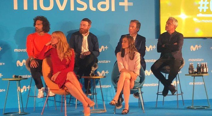Conductores de programas de entretenimiento de Movistar+ en la presentación de la nueva temporada
