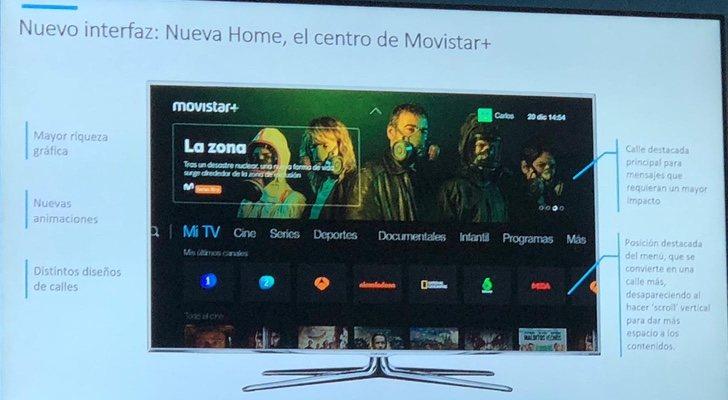 Adelanto de la nueva interfaz de Movistar+
