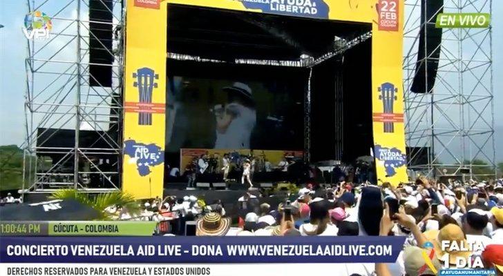 Censuran la emisión de Antena 3 en Venezuela durante el concierto