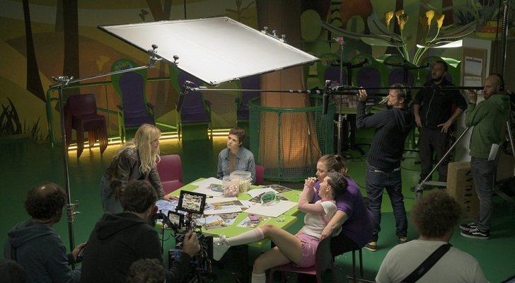 Imagen del rodaje de 'Vis a vis: El Oasis'