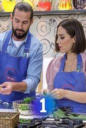 Cartel de Cocina al punto con Peña y Tamara