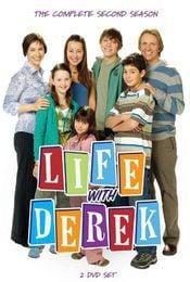 Cartel de Viviendo con Derek