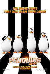 Cartel de Los pingüinos de Madagascar