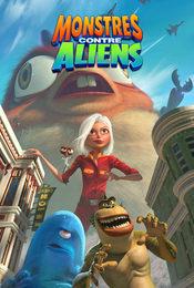 Cartel de Monstruos contra alienígenas