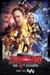 Cartel de Sharknado: The Fourth Awakens