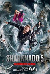 Cartel de Sharknado 5: Aletamiento global