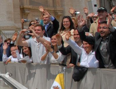 El Follonero saluda al Papa