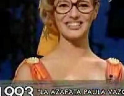 Los comienzos de Paula Vázquez en el 'Un, dos, tres...'