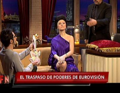 Soraya toma el relevo de Chikilicuatre en 'Buenafuente'
