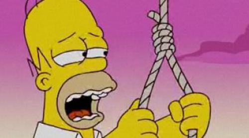 Los Simpson, desahuciados por la crisis hipotecaria