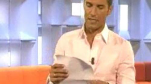 Jesús Vázquez comunica la expulsión de Risto Mejide de 'OT'