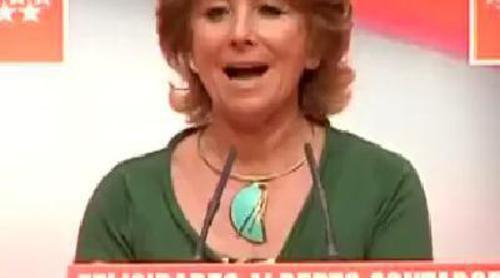 Esperanza Aguirre tararea el himno español tras la victoria de Contador