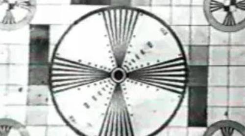 Primera carta de ajuste de TVE durante su emisión en puebas