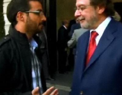 Encuentro entre el Follonero y Juan Luis Cebrián en 'Salvados'