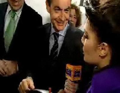 Pilar Rubio consigue hablar con Zapatero