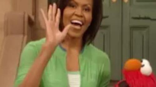 Michelle Obama celebra el 40 aniversario de 'Barrio Sésamo'