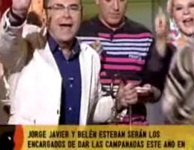 Belén Esteban y Jorge Javier Vázquez realizan su primer ensayo de las Campanadas