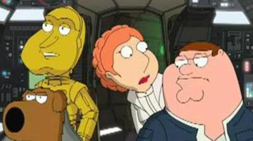 "'Padre de familia' vuelve a parodiar 'Star Wars': ""Something Something Something Darkside"""