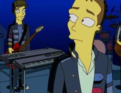 Coldplay en 'Los Simpson'