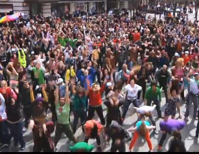 Flash Mob de 'Glee' en Seattle
