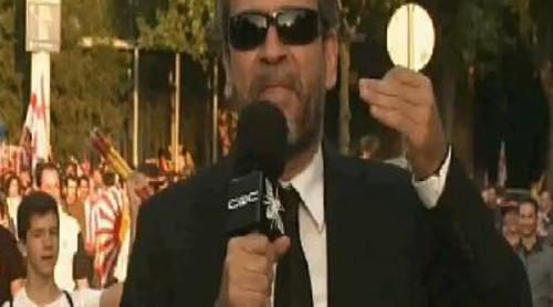 Willy Toledo, reportero por un día de 'CQC' en la final de la Copa del Rey