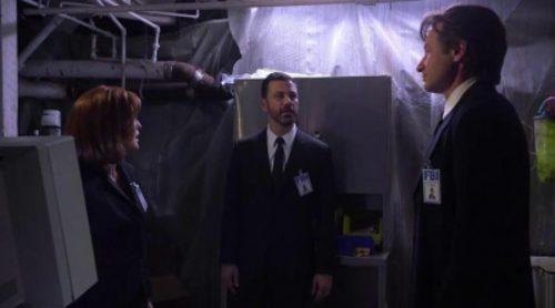Mulder y Scully ('Expediente X') mantienen una relación sexual en frente de Jimmy Kimmel