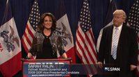 Tina Fey vuelve a ser Sarah Palin en su reaparición con Donald Trump en 'SNL'